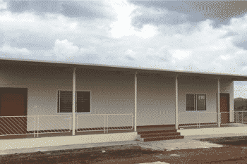 Temporary quarters for ten staff
